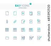 vector thin line flat design... | Shutterstock .eps vector #685392520
