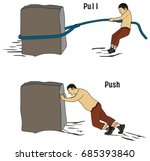 pull and push concept for... | Shutterstock .eps vector #685393840