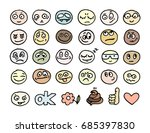 vector hand drawn faces.... | Shutterstock .eps vector #685397830