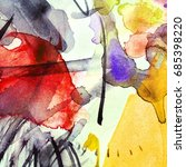 watercolor abstract background. ... | Shutterstock . vector #685398220