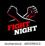 vector clenched fists fight mma ... | Shutterstock .eps vector #685398313