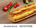 turkish traditional pita with... | Shutterstock . vector #685399588