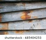 wooden background with seam grey | Shutterstock . vector #685404253