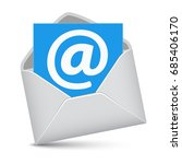 email envelope website contact... | Shutterstock .eps vector #685406170