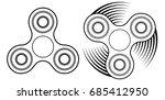 fidget spinner linear icon.... | Shutterstock .eps vector #685412950