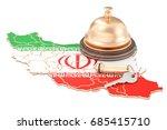 iran booking concept. iranian...   Shutterstock . vector #685415710