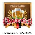 oktoberfest background with... | Shutterstock .eps vector #685417360