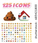 set of realistic cute icons on... | Shutterstock .eps vector #685421800