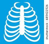 rib cage icon white isolated on ... | Shutterstock .eps vector #685422526