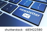 newsletter concept with sign... | Shutterstock . vector #685422580