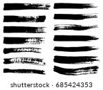 collection of artistic grungy... | Shutterstock . vector #685424353