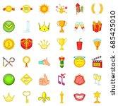 achievement icons set. cartoon... | Shutterstock .eps vector #685425010