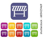 traffic barrier icons set... | Shutterstock .eps vector #685425469