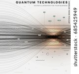 quantum computing and signal... | Shutterstock .eps vector #685425949