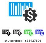 barcode price setup gear flat...   Shutterstock .eps vector #685427506