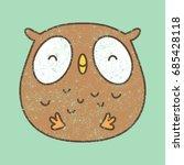 cute owl cartoon. vector... | Shutterstock .eps vector #685428118