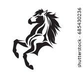 Stock vector standing elegant horse 685430236