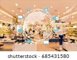 internet of things conceptual.... | Shutterstock . vector #685431580