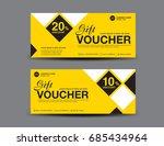 yellow gift voucher template... | Shutterstock .eps vector #685434964