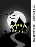 happy halloween day | Shutterstock .eps vector #685436620