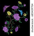 embroidery oriental folk... | Shutterstock .eps vector #685439704
