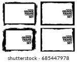 grunge frame texture set  ... | Shutterstock .eps vector #685447978