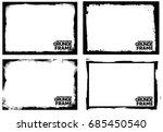 grunge frame texture set  ... | Shutterstock .eps vector #685450540