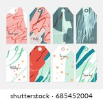 hand drawn creative tags.... | Shutterstock .eps vector #685452004