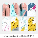 hand drawn creative tags.... | Shutterstock .eps vector #685452118