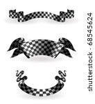 checkered ribbons set  10eps | Shutterstock .eps vector #68545624