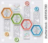 vector abstract 3d paper... | Shutterstock .eps vector #685456780