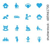 set of 16 relatives icons set... | Shutterstock .eps vector #685461730