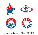 hvac icons. heating ... | Shutterstock .eps vector #685462204