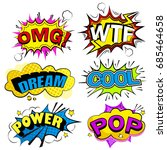 pop of cartoon speech bubble on ... | Shutterstock . vector #685464658