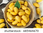 raw yellow date palm or dates ... | Shutterstock . vector #685464670