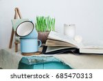 a composition in the style of... | Shutterstock . vector #685470313