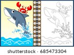 playing in the sea  vector... | Shutterstock .eps vector #685473304