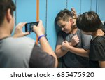 young student torturing of... | Shutterstock . vector #685475920