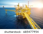 offshore oil and gas rig... | Shutterstock . vector #685477954