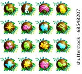 Set Of Chocolate Spring Icons ...