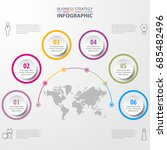 business infographics  strategy ... | Shutterstock .eps vector #685482496