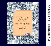 romantic invitation. wedding ...   Shutterstock . vector #685487596