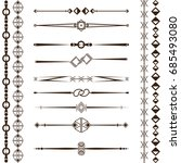 a set of design elements ... | Shutterstock .eps vector #685493080
