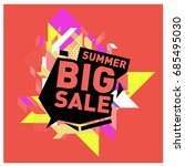 summer sale memphis style web... | Shutterstock .eps vector #685495030