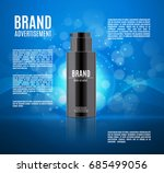 cosmetic ads template.... | Shutterstock .eps vector #685499056