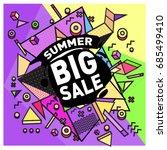 summer sale memphis style web... | Shutterstock .eps vector #685499410