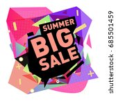 summer sale memphis style web... | Shutterstock .eps vector #685501459