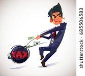 businessman throwing metal ball ...   Shutterstock .eps vector #685506583