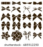 set of decorative bow for your... | Shutterstock .eps vector #685512250