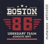 vintage composition. boston t...   Shutterstock .eps vector #685514320